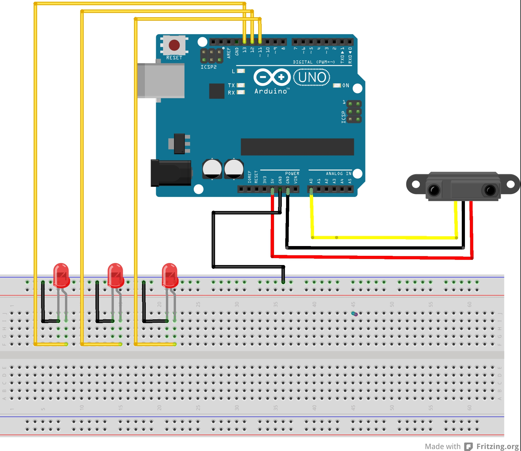 Schemi Elettrici Arduino : Tutorial arduino realizziamo un progetto con il sensore sharp