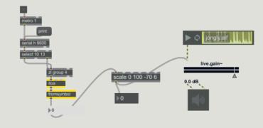 Tutorial Arduino MaxMSP #4 – Arduino MaxMSP controllo volume