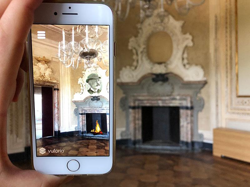 Realtà Aumentata Villa Borromeo d'Adda