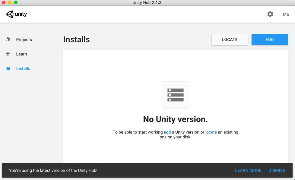 UnityHub Mac installer